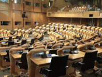Seating in the Scottish Parliament Debating Chamber