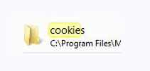 Cookie file location
