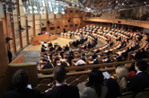 The Debating Chamber at the Scottish Parliament