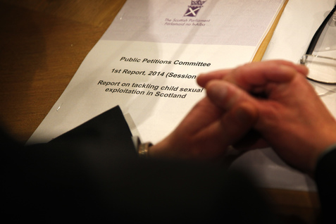 The Public Petitions Committee launches it report on tackling child sexual exploitation in Scotland 14 January 2014