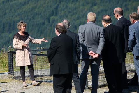 The Public Petitions Committee from the Scottish Parliament are shown the Tinkers Heart site in Argyll by petitioner Jess Smith