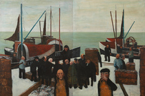 Fishers painting by John Bellany