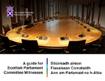 Picture of committee room at Scottish Parliament
