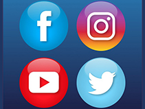 Social Media Logos - Twitter, Facebook, Instagram & YouTube