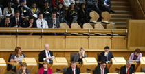 Members of the public view a meeting in the Debating Chamber