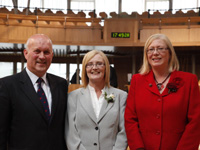 Presiding Officer Tricia Marwick MSP with Deputy Presiding Officers John Scott MSP and Elaine Smith MSP