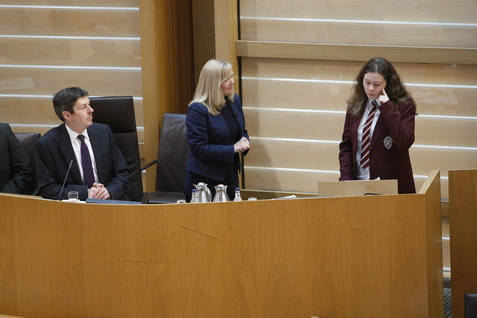 The Scottish Parliament opened today with its youngest-ever contributor to Time for Reflection, the first item of business taken at the start of the parliamentary week.