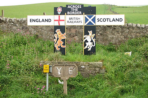Scottish border with England