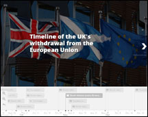 Screenshot of SPICe Brexit timeline